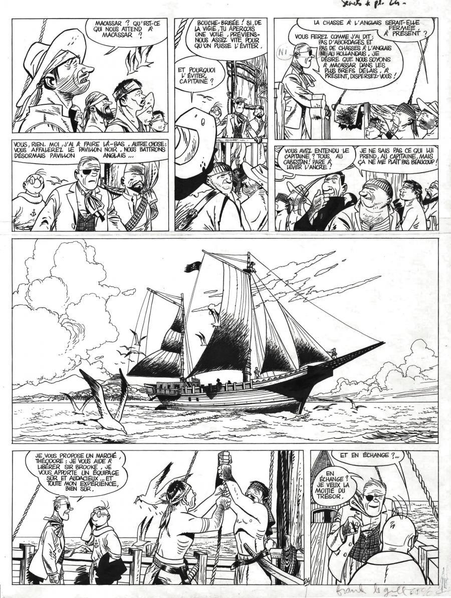 Planche originale de bande dessinée, galerie Napoléon : THEODORE POUSSIN - Planche originale de THEODORE POUSSIN tome 4 Secrets planche 24 par Frank LE GALL - 24