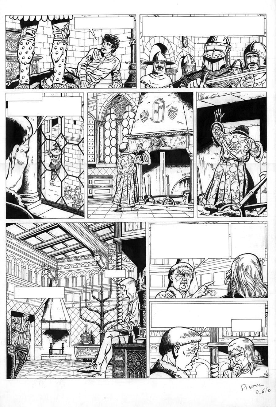 Original comic page 10 issue 1 from VSACO by CHAILLET