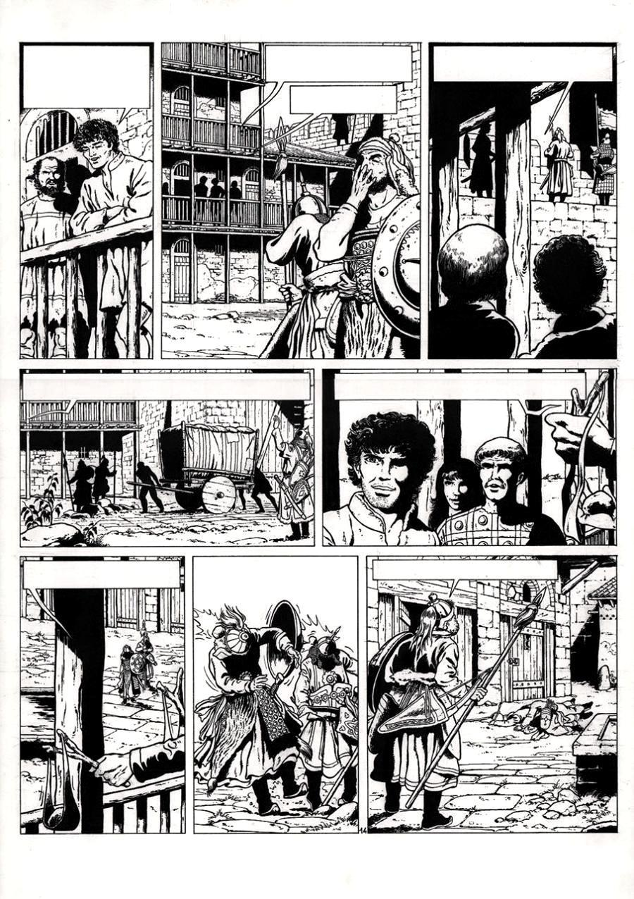 Original Comics illustration, Napoleon Gallery : VASCO - Original comic page 14 from VASCO issue 4 by CHAILLET - 14