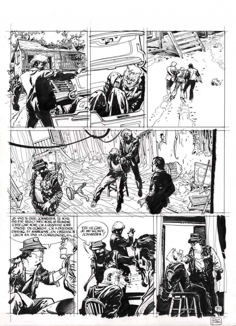 Original comic page 15 from DU PLOMB DANS LA TETE issue 2 by Colin WILSON