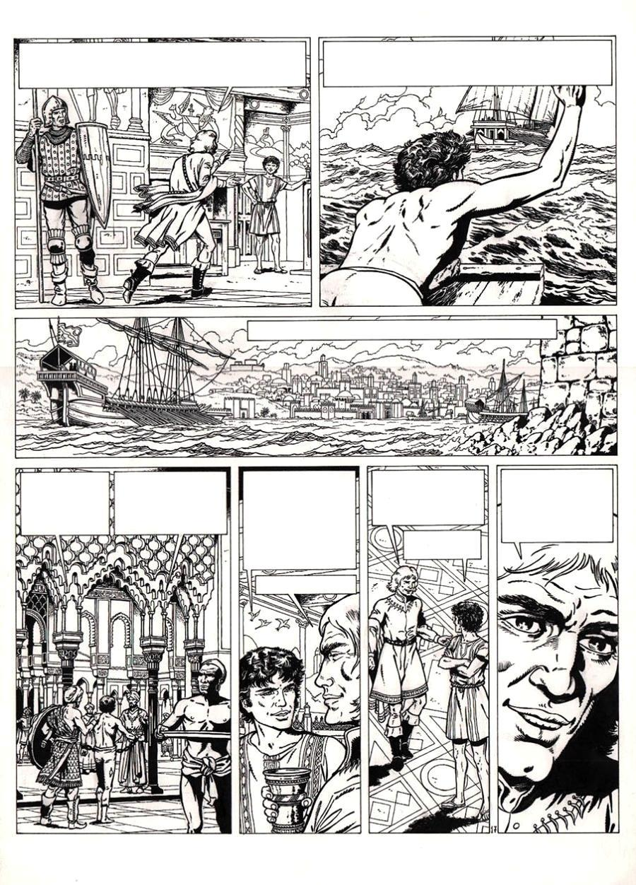 Original comic page 17 from VASCO issue 2 by CHAILLET
