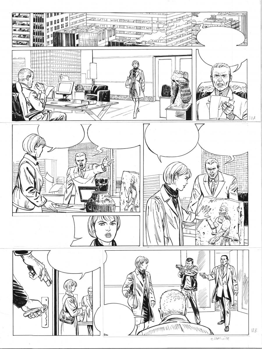 Original comic art for SIENNA 18 tome 4 by Denis CHETVILLE