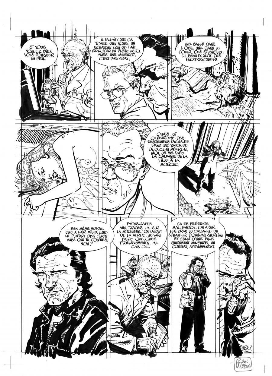 Original comic page 20 from DU PLOMB DANS LA TETE issue 1 by Colin WILSON
