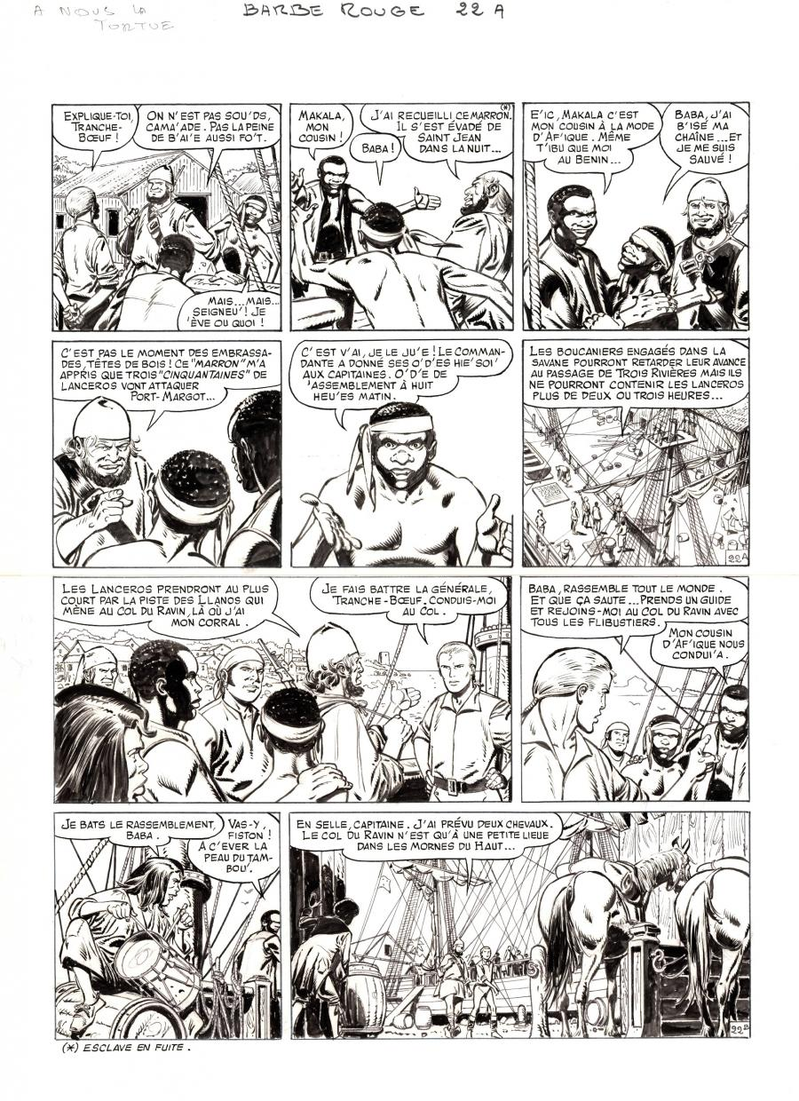 Original comic page 22 from BARBE ROUGE - Issue 29. A nous la Tortue
