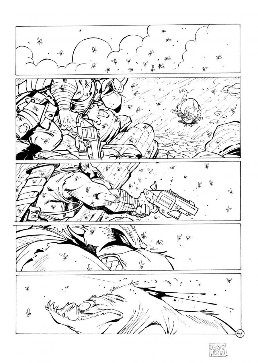 SOLO original comic page 41 issue 1 part 2, by MARTIN