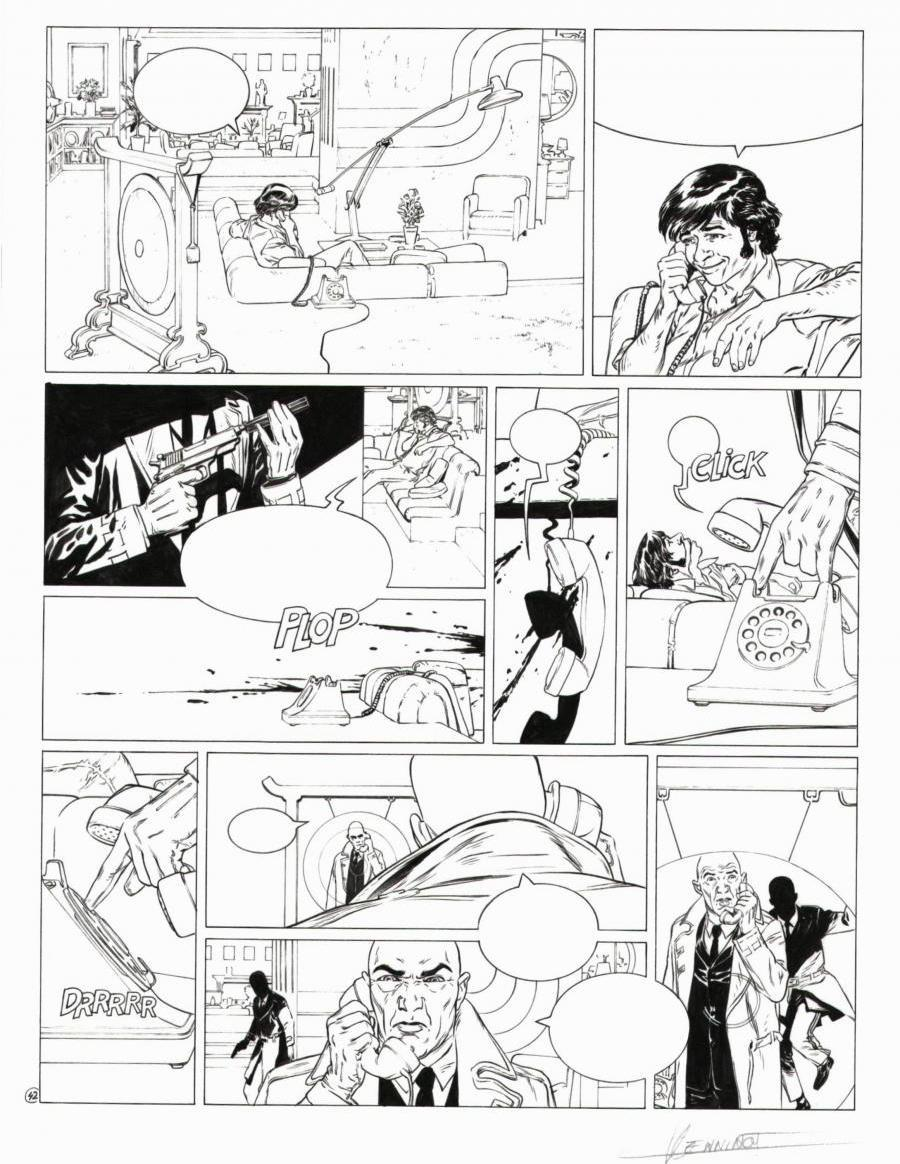 Planche originale 42 de XIII MYSTERY Tome 3 Little Jones par HENNINOT