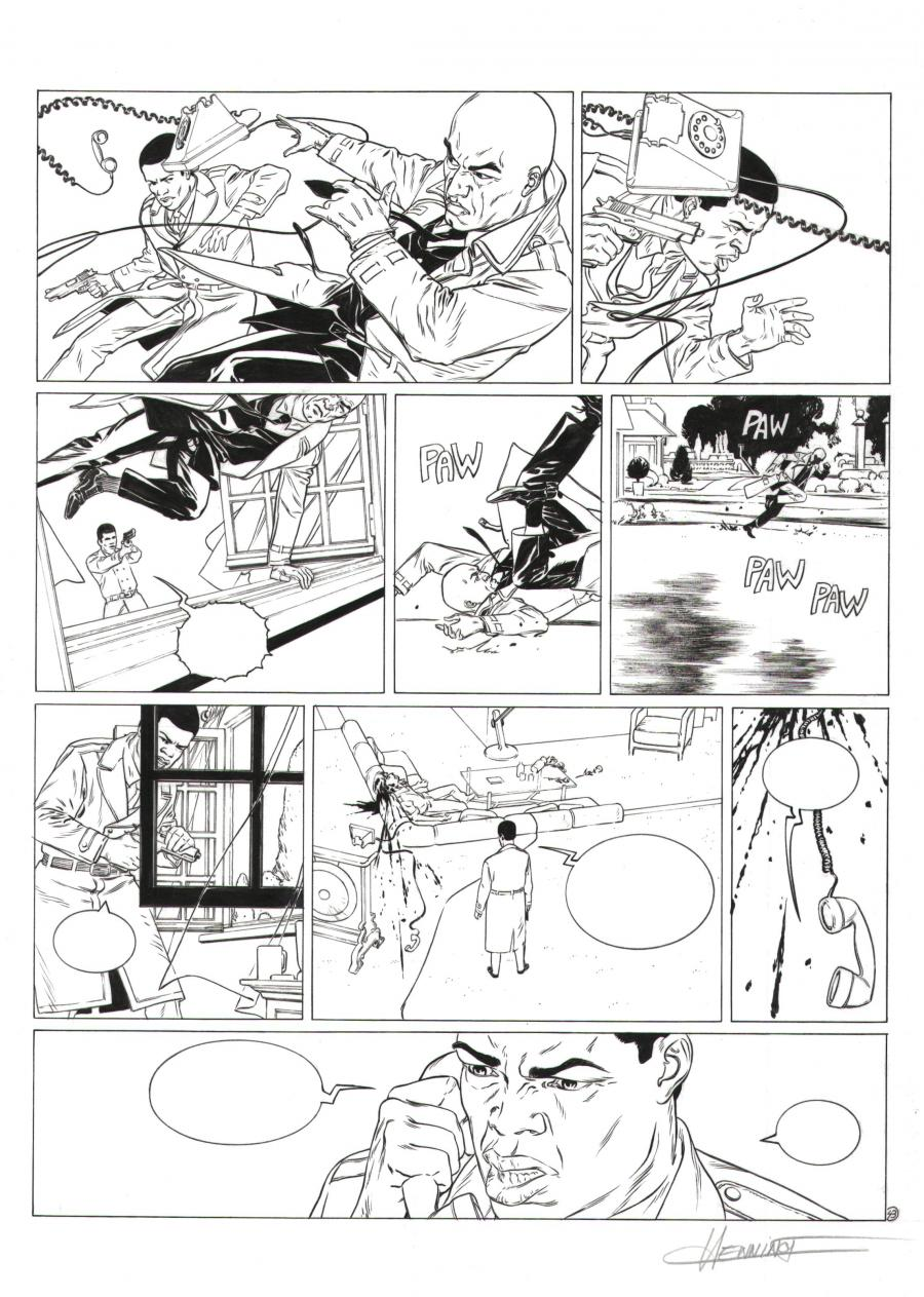 Planche Originale 43 de XIII Mystery Tome 3 Little Jones par HENNINOT