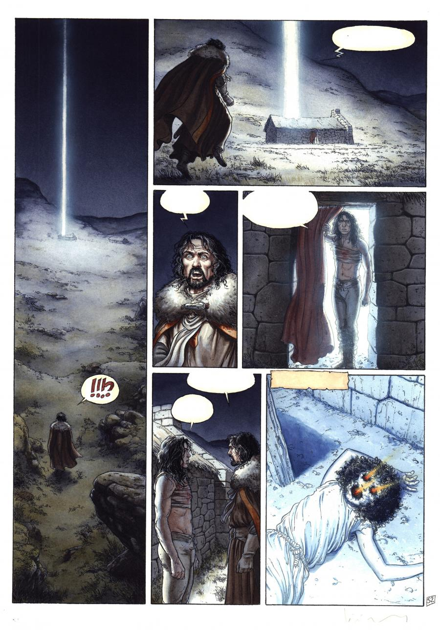 Original color comic page BALLAD OF THE LOST MOORS Issue 6 page 52