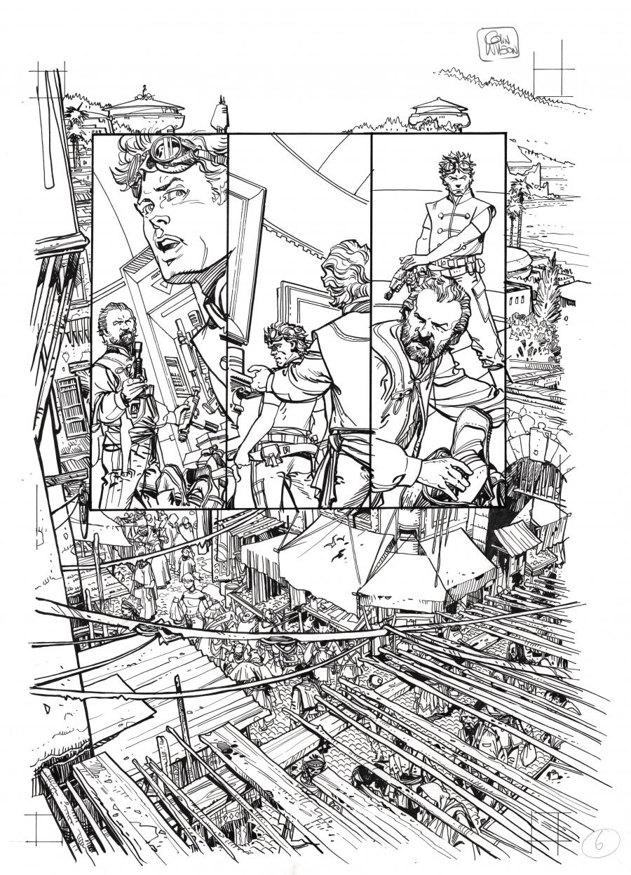 Planche originale 6 de STAR WARS : Invasion tome 1 Refugiés par Colin WILSON