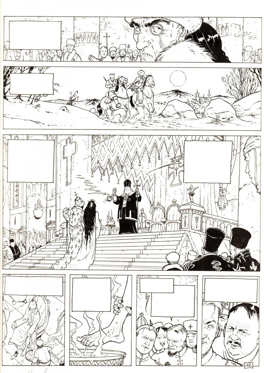 Original comic page 22 from the IMPERATRICE ROUGE  by ADAMOV