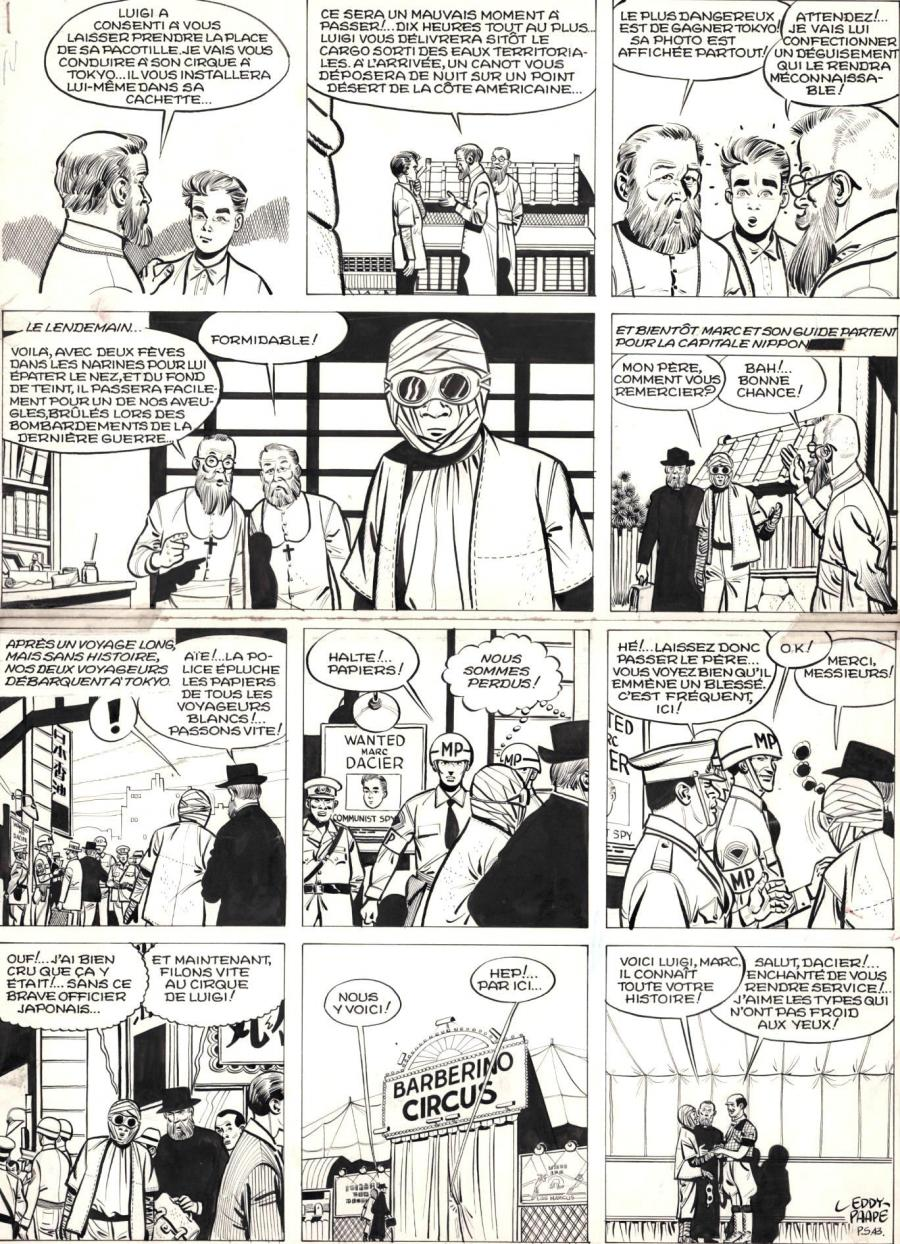 Original comic page 43 from MARC DACIER tome 2 A la poursuite du soleil planche by PAAPE