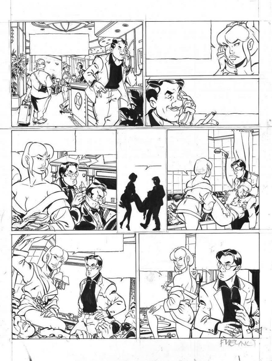 Original page 22 of TATIANA K. issue 2 by MEYNET