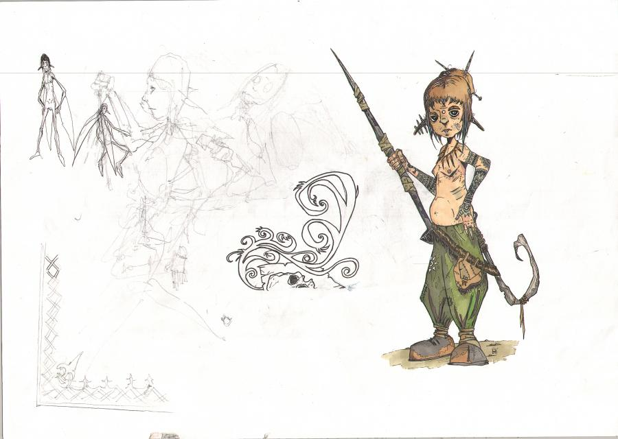 Original illustration Lutin Vert