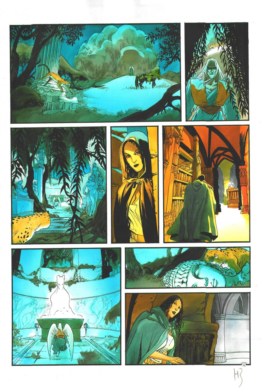 Original page 32 from Les Immortels Issue 4 - Le Second Cavalier by Henri Reculé