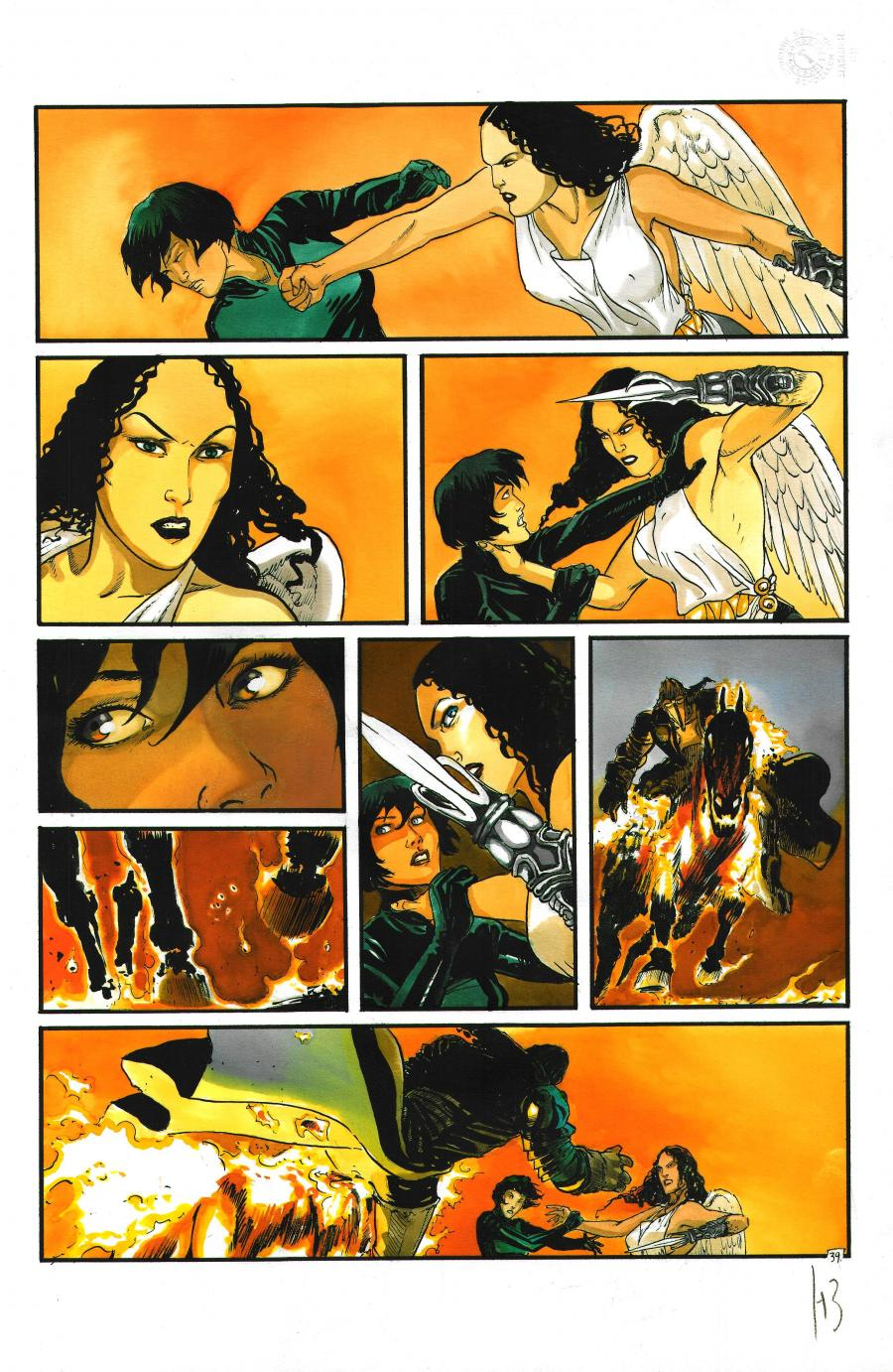 Original page 39 from Les Immortels Issue 4 - Le Second Cavalier by Henri Reculé