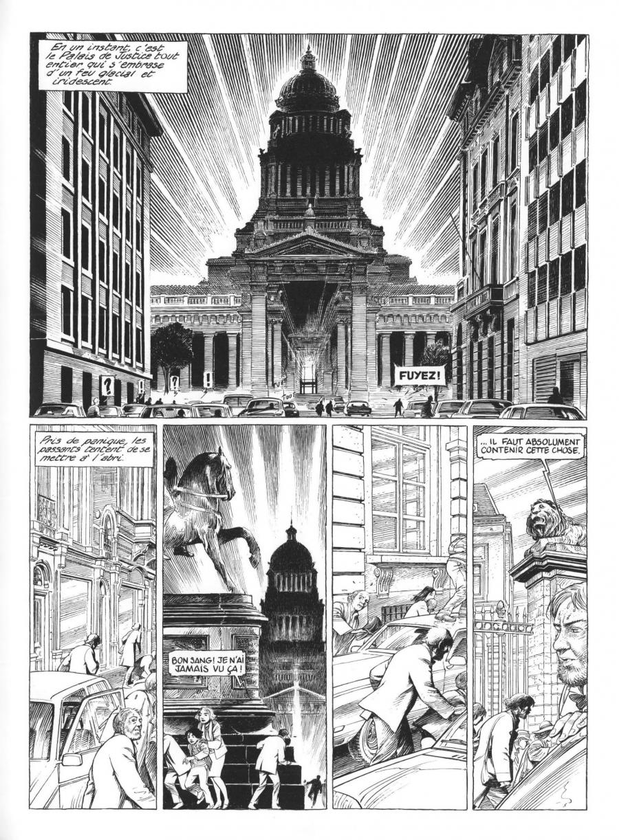 Original comic page 3 of BLAKE AND MORTIMER - The Last pharaoh - by François SCHUITEN