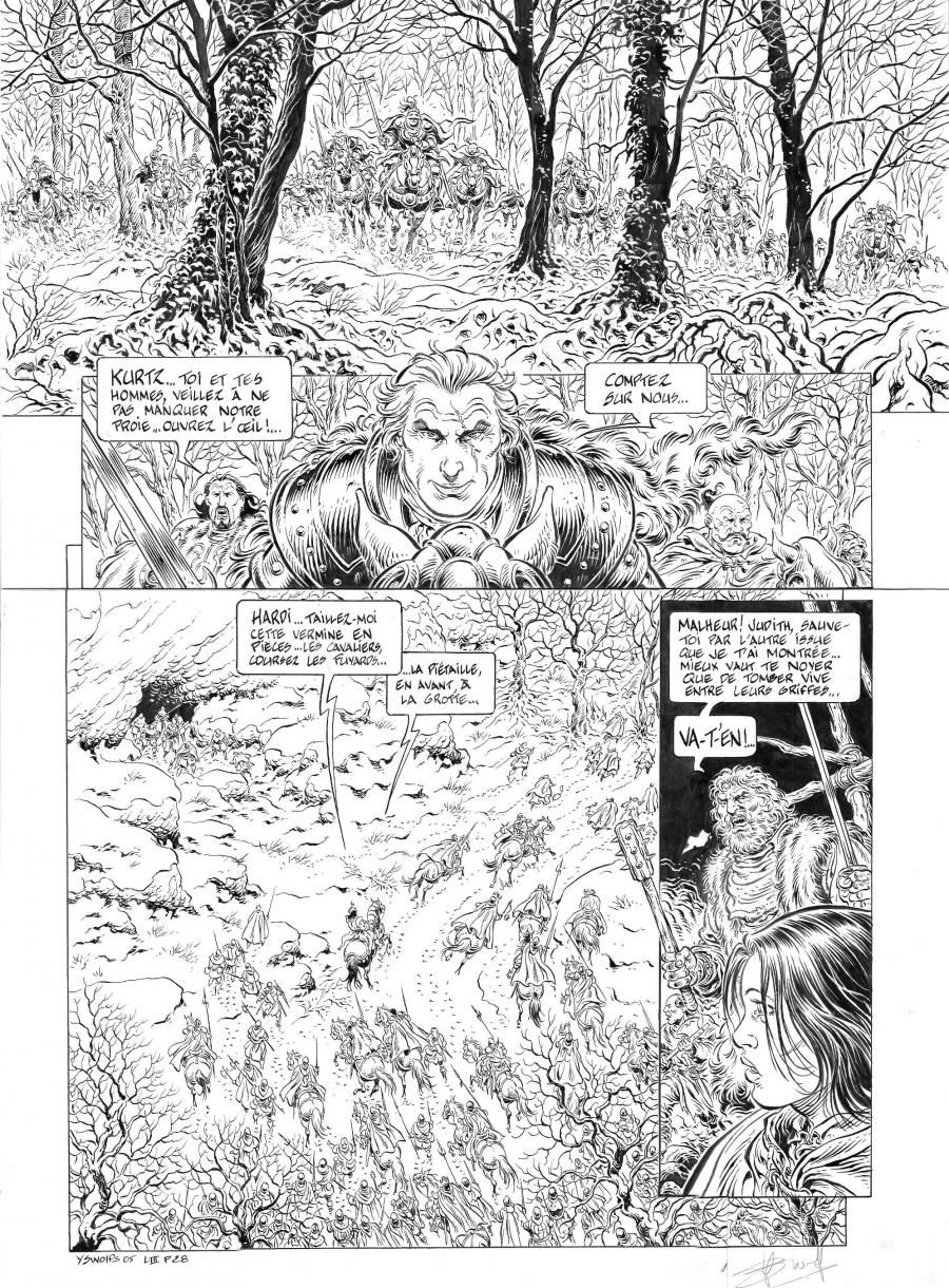 Original comic page n°28  from Légende volume 3 : La grande battue by Yves SWOLFS