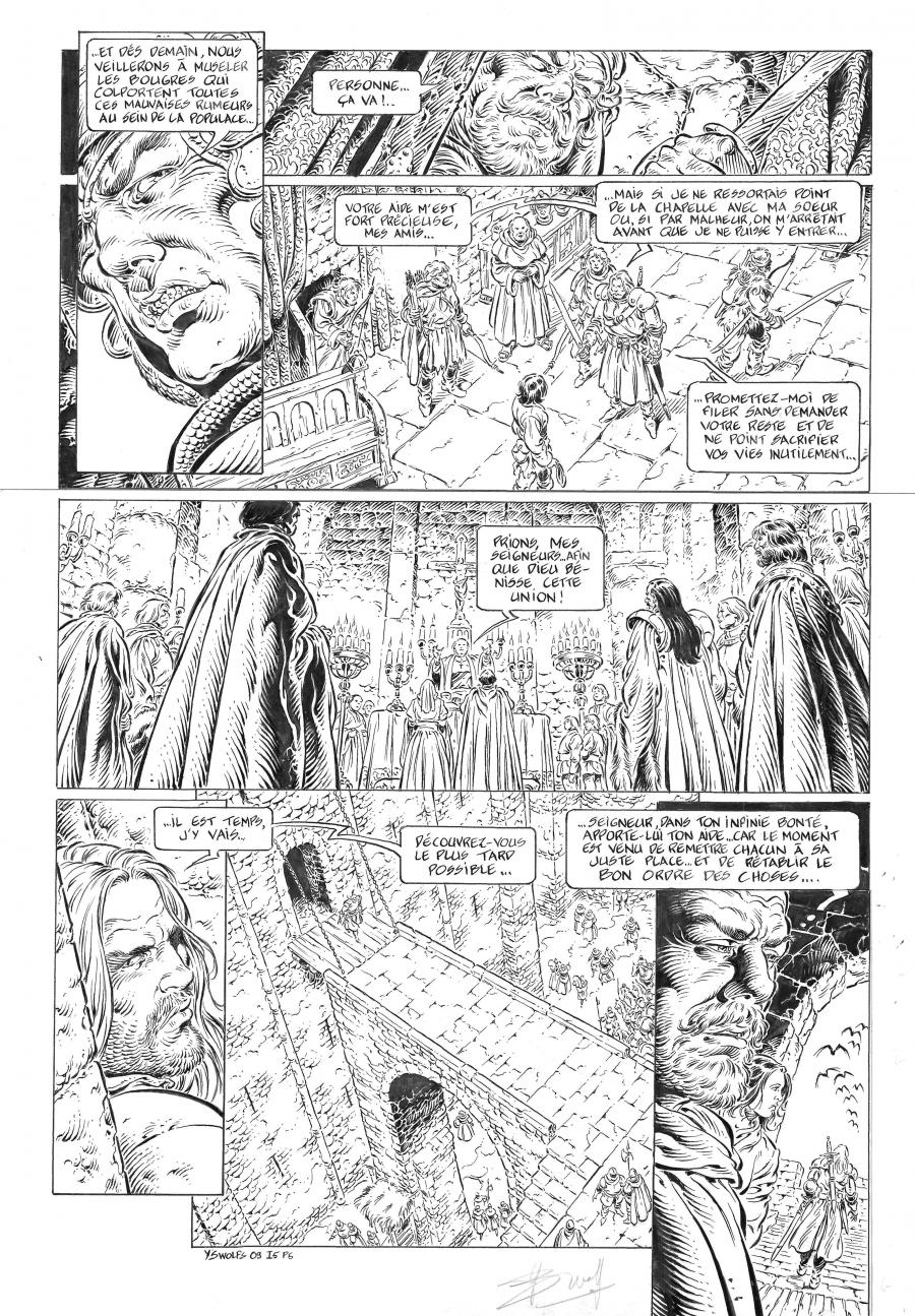 Original comic page 5 LEGENDE Issue 5 Le maître des songes  Yves SWOLFS