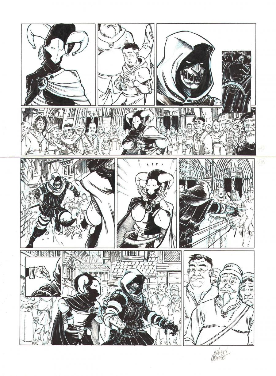 Original comic page 29 from volume 1 of LE BOURREAU - Justice divine ? -