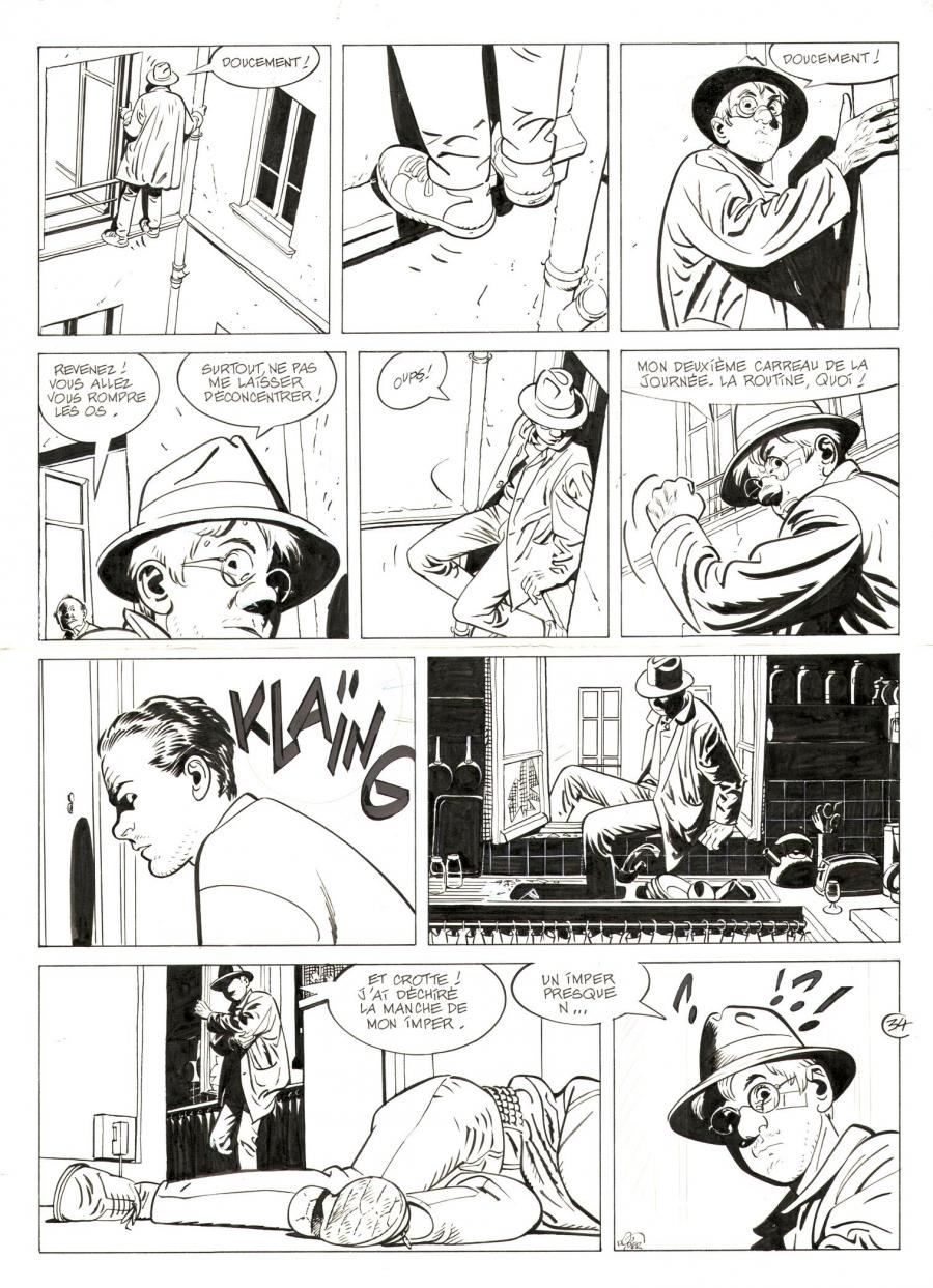JÉRÔME K. JÉRÔME BLOCHE original comic art issue 14