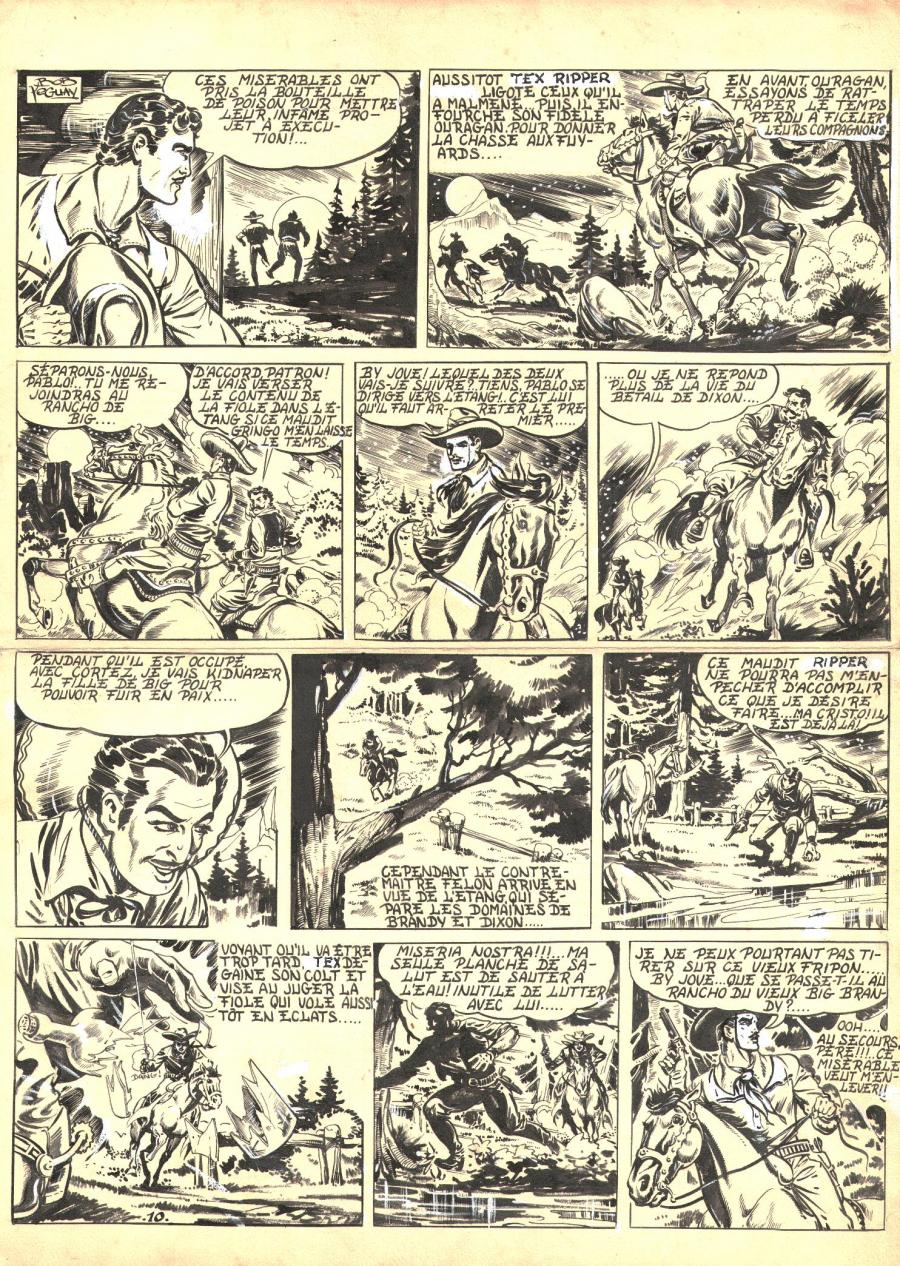 Robert LEGUAY's original comic art TEX RIPPER page 10