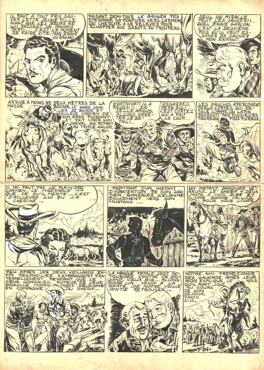 Robert LEGUAY's original comic art TEX RIPPER page 11