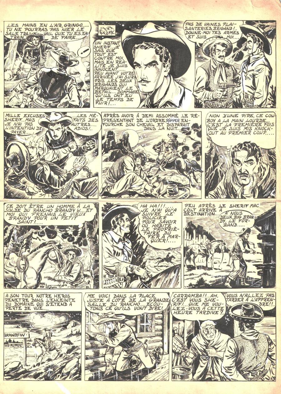 Robert LEGUAY's original comic art TEX RIPPER page 3