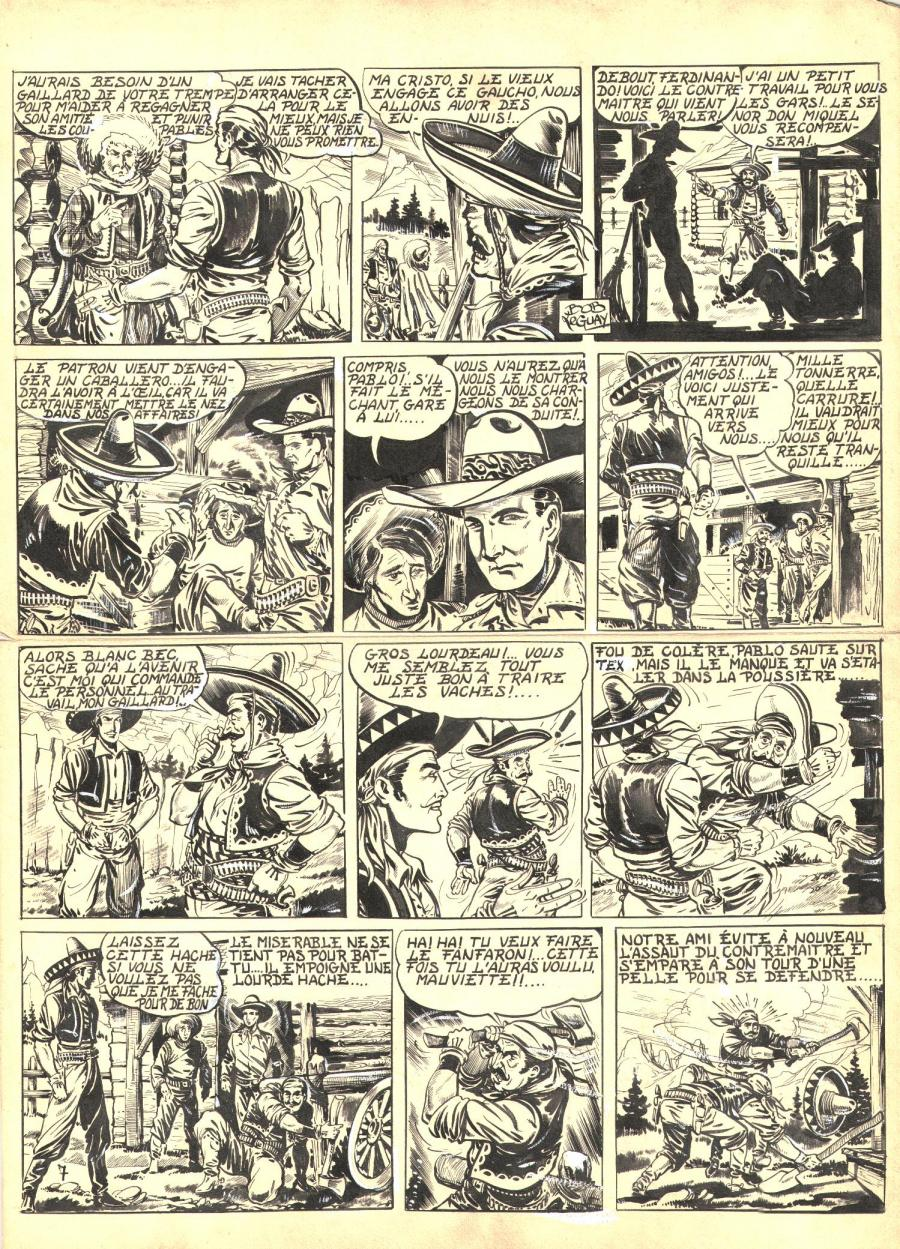 Robert LEGUAY's original comic art TEX RIPPER page 6