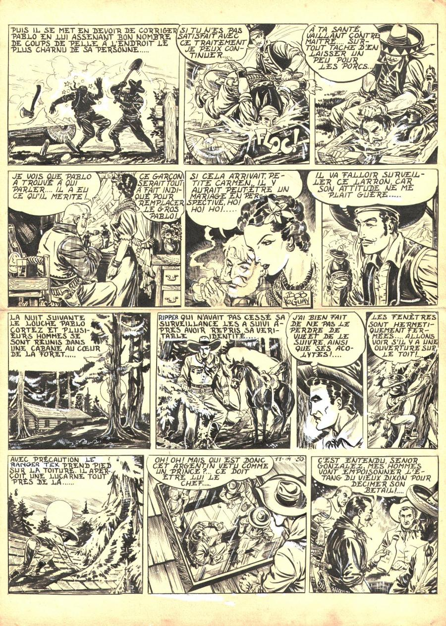 Robert LEGUAY's original comic art TEX RIPPER page 7