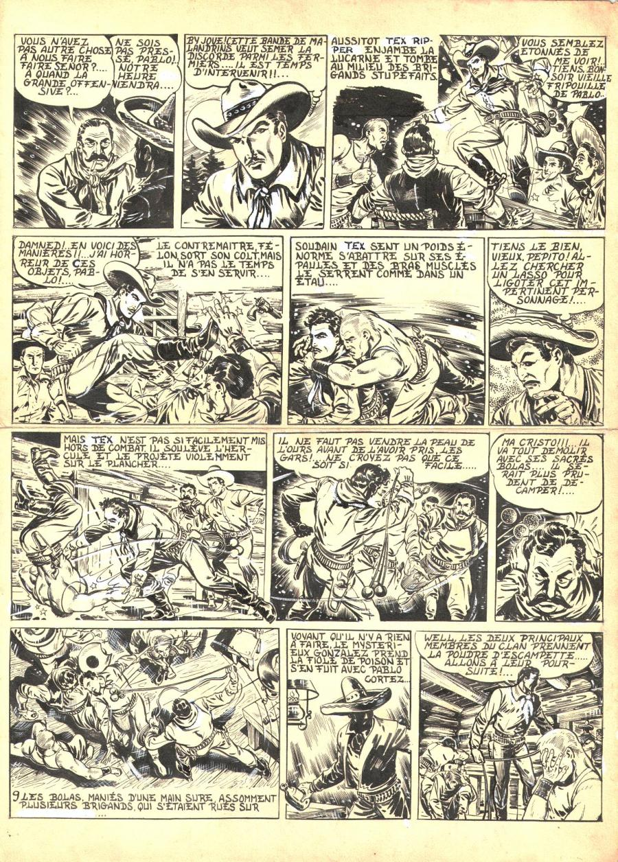 Robert LEGUAY's original comic art TEX RIPPER page 8