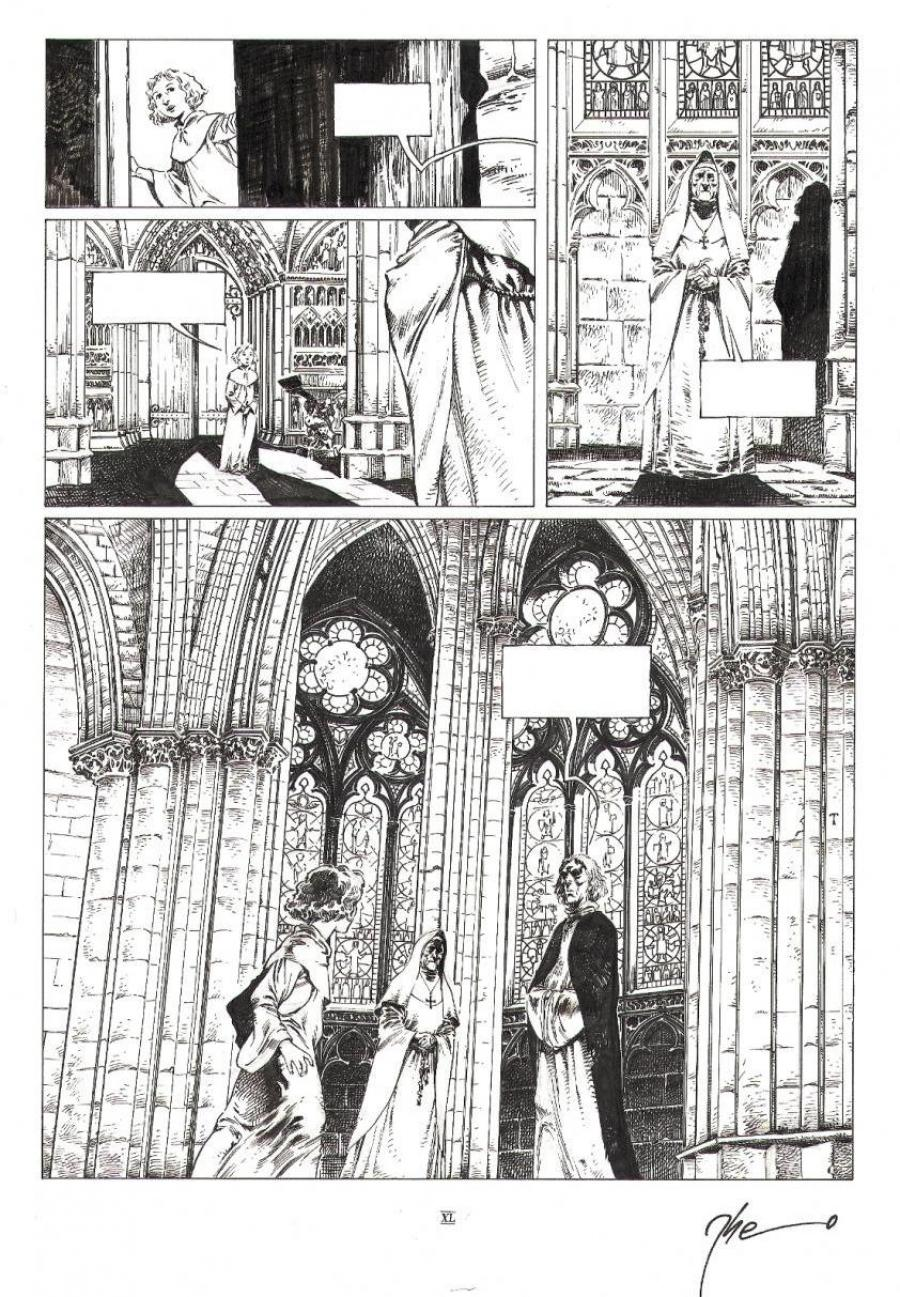 Original comic page 40 from volume 4 of LE TRONE D'ARGILE- La mort des rois -