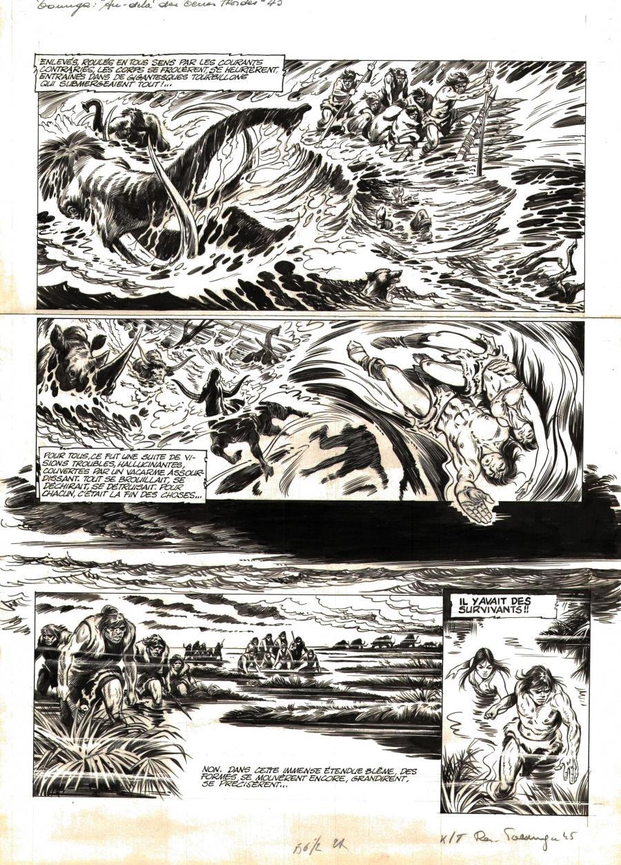 Planche originale de bande dessinée, galerie Napoléon : TOUNGA - Planche originale de Tounga Au dela des terres froides planche 45 -
