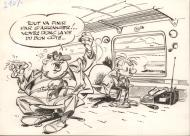FRANQUIN's original illustration from the Robinson du Rail
