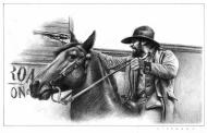 Illustration originale Western par Eugenio SICOMORO