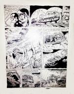 Original comic page from RIC HOCHET by TIBET