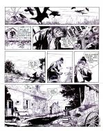 Pierre MAKYO's original comic art GRIMION LEATHER GLOVE original page 12.