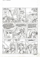 Original comic page 45 from ARIA Issue 12 by Michel WEYLAND