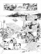 Original page 40 of FRANK LINCOLN issue 1. La loi du Grand Nord, by Marc BOURGNE