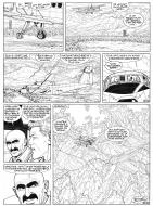 BERGESE's original comic art 35 from BUCK DANNY Issue 52
