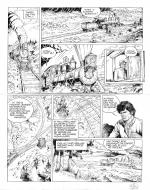Original comic art 13 of BlueBerry (the youth of) issue 21: le convoi des bannis