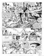 Original comic art 30 of BlueBerry (the youth of) issue 21: le convoi des bannis