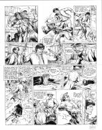 Original comic art 36 of BlueBerry (the youth of) issue 21: le convoi des bannis