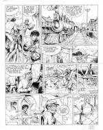 Original comic art 8 of BlueBerry (the youth of) issue 21: le convoi des bannis