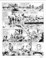 Original comic art 28 of BlueBerry (the youth of) issue 21: le convoi des bannis