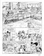 Original comic art 37 of BlueBerry (the youth of) issue 17: Le sentier des larmes