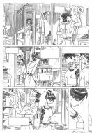 Penciled original comic art 15 for AMOROSTASIA by Cyril BONIN