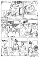 Penciled original comic art 16 for AMOROSTASIA by Cyril BONIN