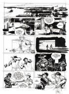 Original comic page 36 from D DAY issue 10 The Kennedy Gang by Colin WILSON
