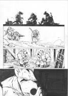 Original comic half page 40 and half page 41 from Solo issue 2 Le coeur et le sang by Oscar MARTIN