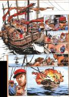 Original page FREE with the page 43 from LAOWAI Issue 1. La guerre de l'opium by Xavier BESSE